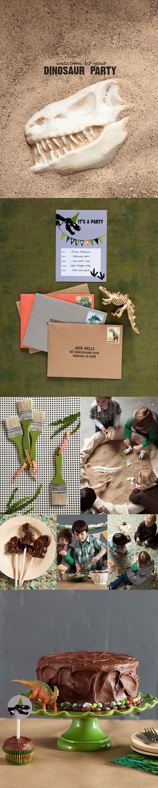 Dino dig birthday party - Cool idea for boys :) Or girls who like dinosaurs…