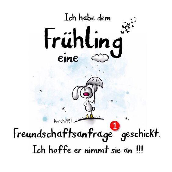 Ich habe dem #Frühling eine #Freundschaftsanfrage  geschickt. Ich hoffe er nimmt sie an !!!  Was meint ihr  !? #spruch #sprüche #spruchdestages ☀️ #spring #frühlingsgefühle  #missthesun #sky (hier: Heilbad Heiligenstadt)