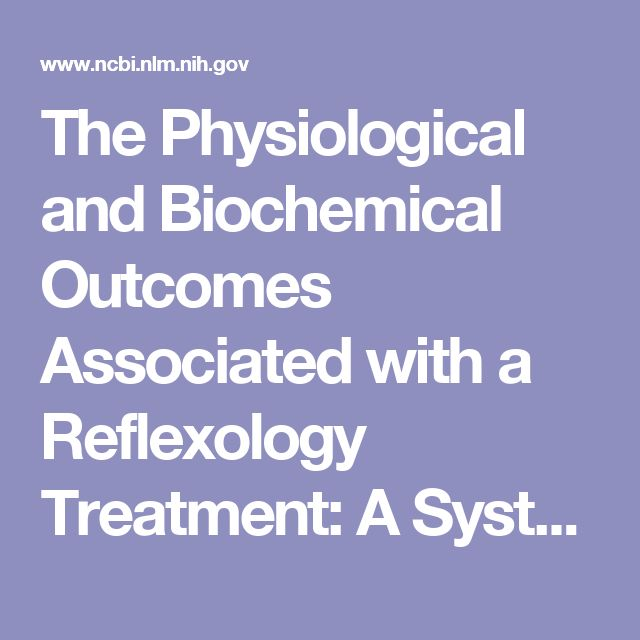 The Physiological and Biochemical Outcomes Associated with a Reflexology Treatment: A Systematic Review