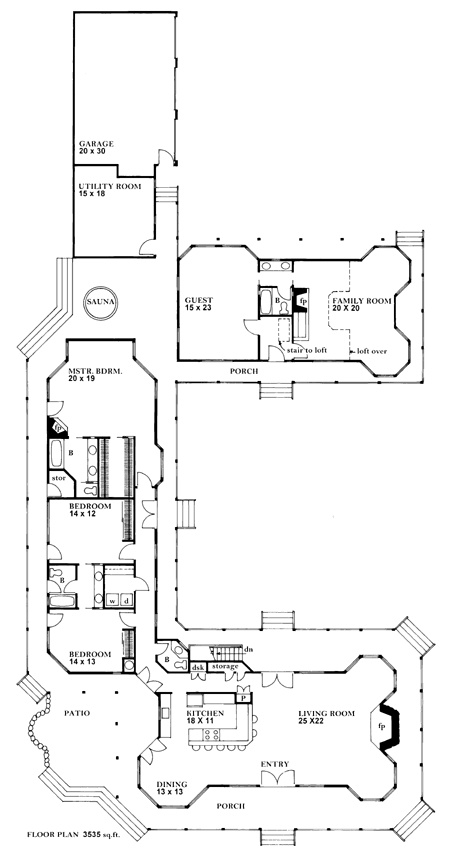 Delightful U Shape Plan With In Law Suite. Huge Areas For Expansion. Wrap