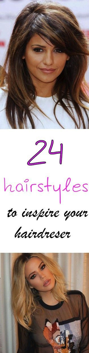 24 hairstyles to inspire your hairdresser. Celebrity hairstyles. Hair. Haircut