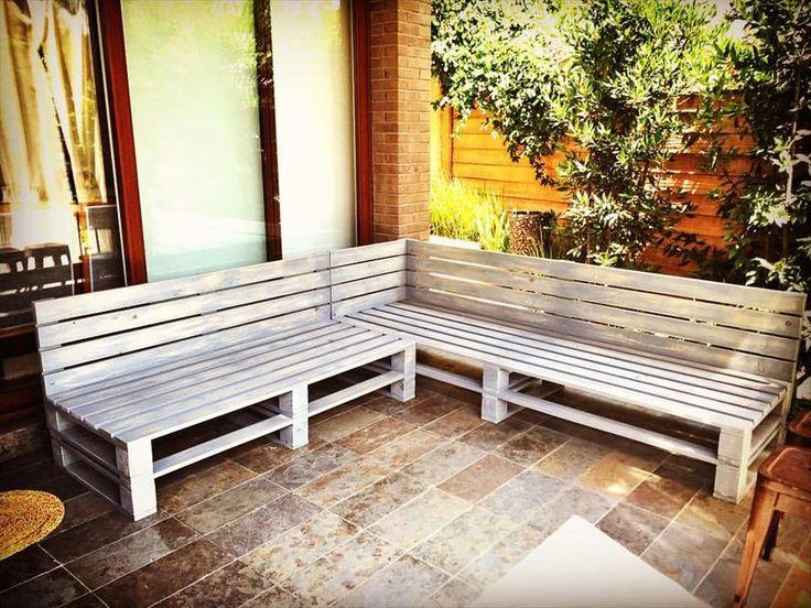 Sturdy Pallet Sectional Sofa Frame - 150+ Wonderful Pallet Furniture Ideas | 101 Pallet Ideas - Part 2