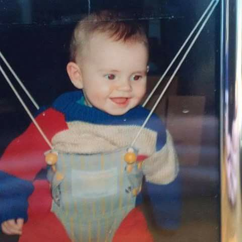 Andy Murray aged 7 months.