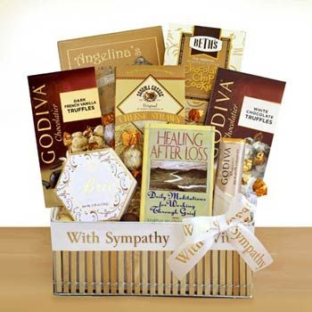 Words of Comfort Sympathy Basket.  See more gifts at www.pro-gift-baskets.com!