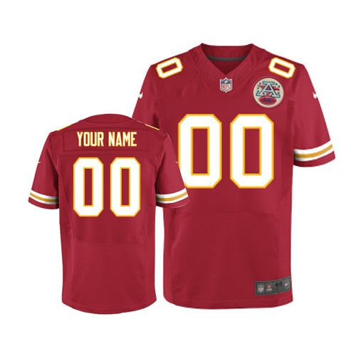 nike kansas city chiefs mens customized elite red team color nfl jersey free shipping