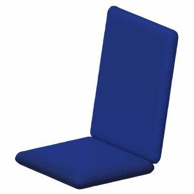 POLYWOOD® Sunbrella 36.25 x 17.25 in. Hinged Bar Stool Cushion Sunbrella Pacific Blue - XPWF0030-5401