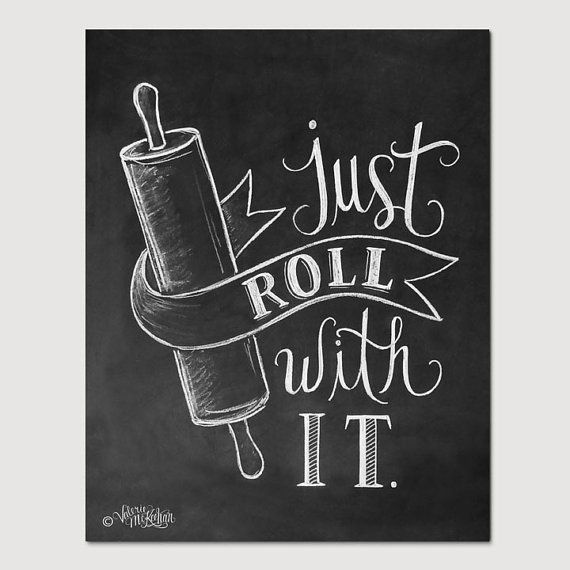 Bakery Print  Kitchen Print  Kitchen Art  Just Roll by LilyandVal, $24.00