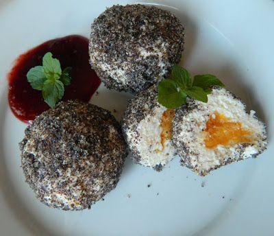 Őszibarackos főzés nélküli diétás túrógombóc ~ Éhezésmentes Karcsúság Szafival