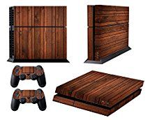 Amazon.com: Skins for PS4 Playstation 4 Games Decals Stickers for Sony PS4 Games PS4 Controller Skin for PS4 Accessories Sticker for PS4 Console and Two Dualshock 4 Remote Play Vinyl Decal Wooden: Video Games