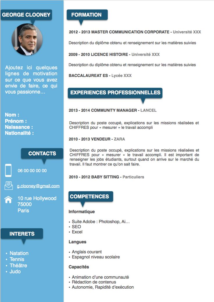 Best 25+ Model de cv gratuit ideas on Pinterest