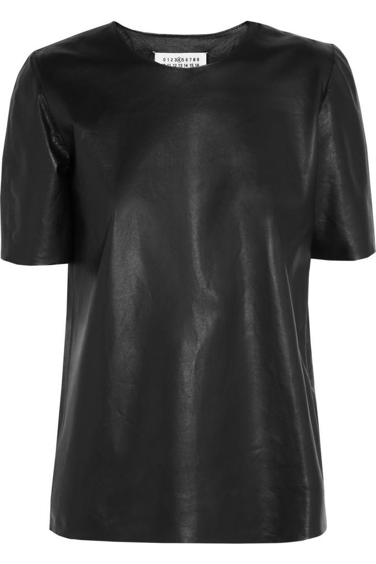 Maison Martin MargielaLeather T-shirt- want!
