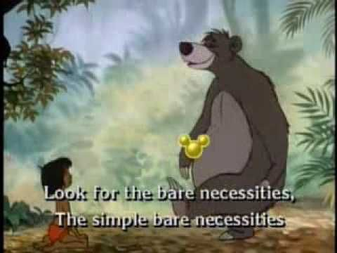 The Jungle Book - Balloo is a lovable bear and lazy just like me! :P (  Bare Necessities [Sing Along Song])