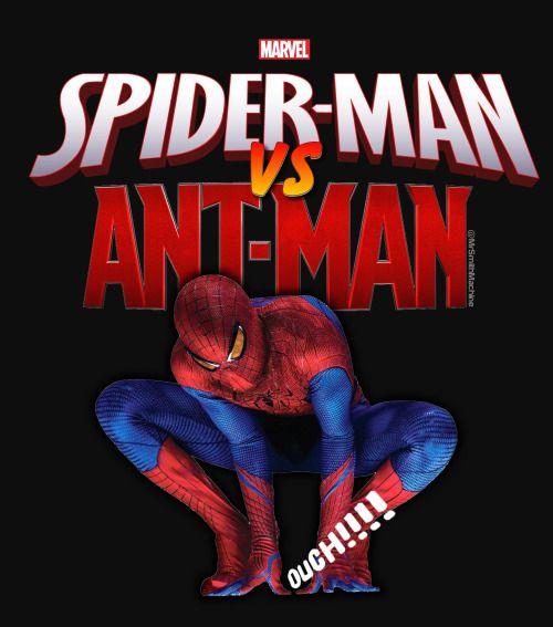 Spider-Man vs Ant-ManSplat! Spidey wins!