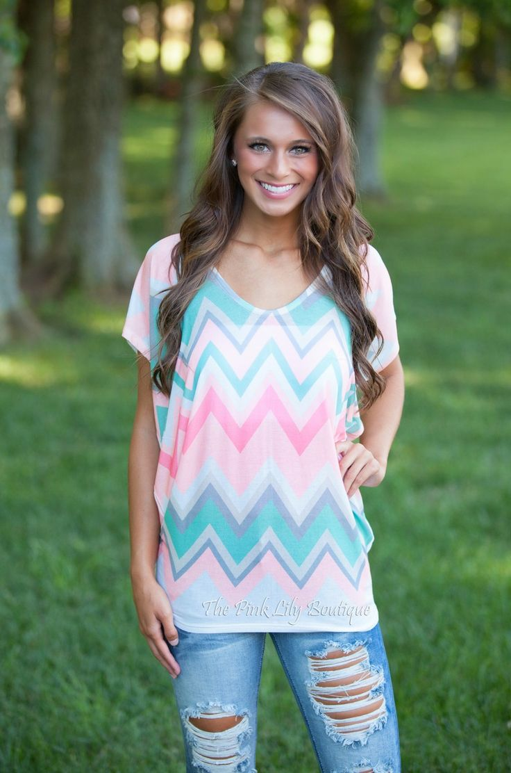 The Pink Lily Boutique - Peachy Keen Chevron Blouse CLEARANCE!!!, $30.00 (http://thepinklilyboutique.com/peachy-keen-chevron-blouse-clearance/)