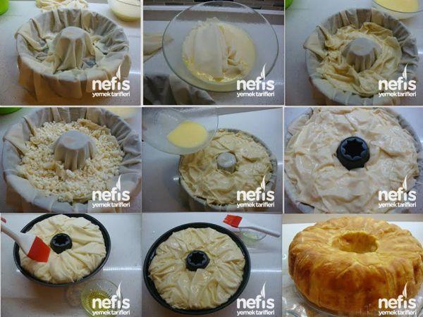 Kek Kalıbında Peynirli Börek Tarifi 3