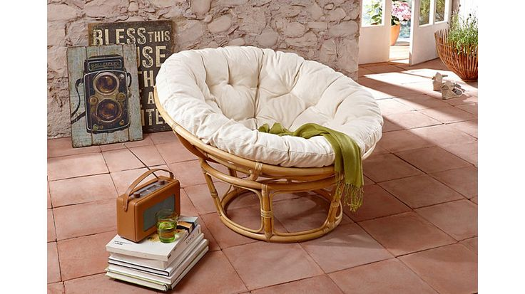 HOME AFFAIRE Papasan-stoel met kussen I desperately need this 120euro chair...!
