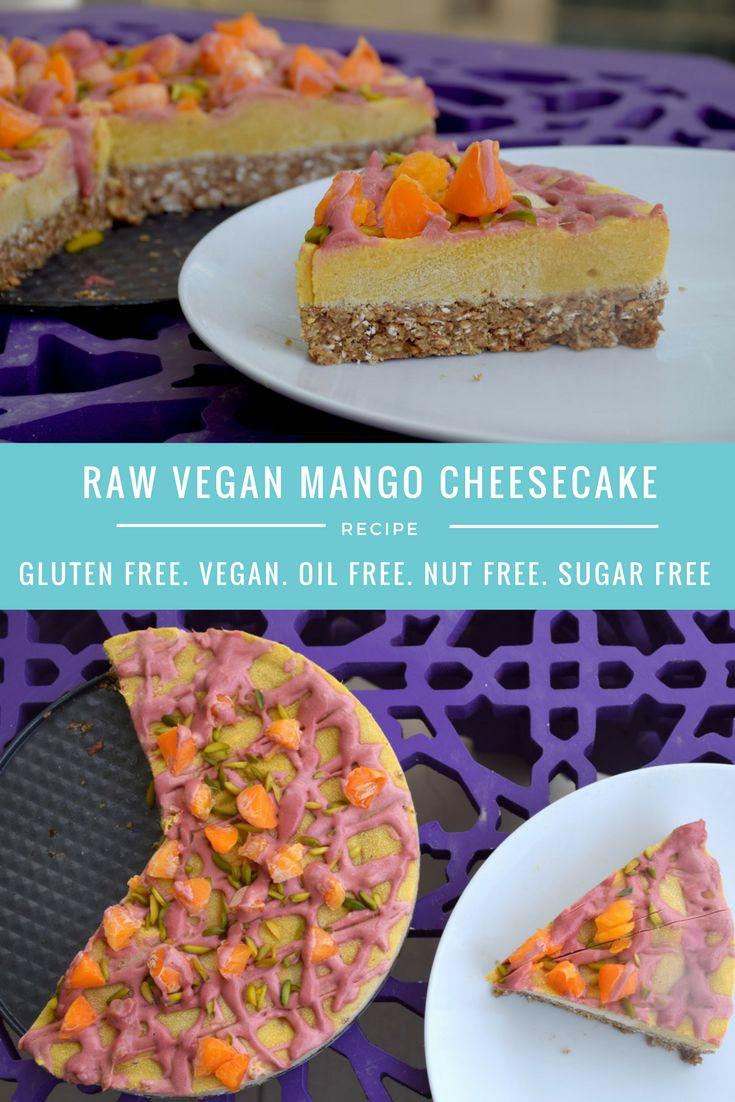raw vegan mango cheesecake gluten and dairy free recipe