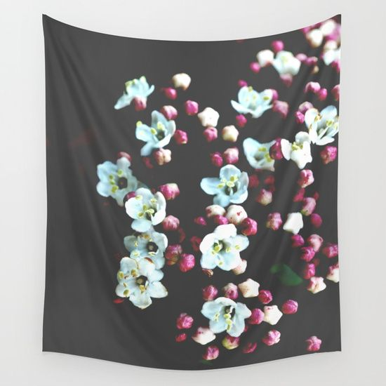 15% OFF + FREE WORLDWIDE SHIPPING ALL TAPESTRIES! Viburnum Flowers Wall Tapestry by ARTbyJWP from Society6 #walltapestry #walldeco #tapestries #whiteflowers #floral --  Available in three distinct sizes, our Wall Tapestries are made of 100% lightweight polyester with hand-sewn finished edges. Featuring vivid colors and crisp lines, these highly unique and versatile tapestries are durable enough for both indoor and outdoor use. Machine washable for outdoor enthusiasts, with cold water on…