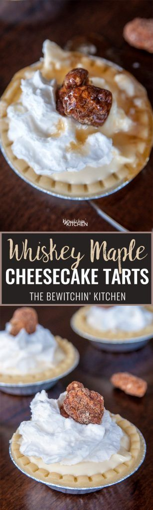 Whiskey Maple Cheesecake Tarts. This no bake boozy dessert recipe packs a bite. Canadian whiskey, maple syrup gives this creamy cheesecake a Canadian spin.