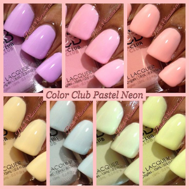 Color Club Pastel Neon Collection