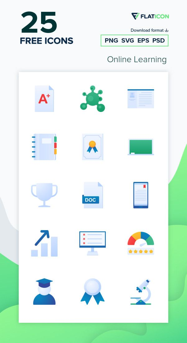 25 Free Vector Icons Of Online Learning Designed By Inipagistudio
