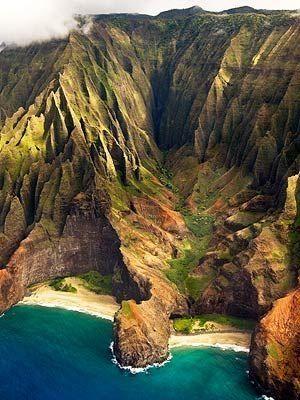 Na Pali Coast, Kauai, Hawaii by Small Flower