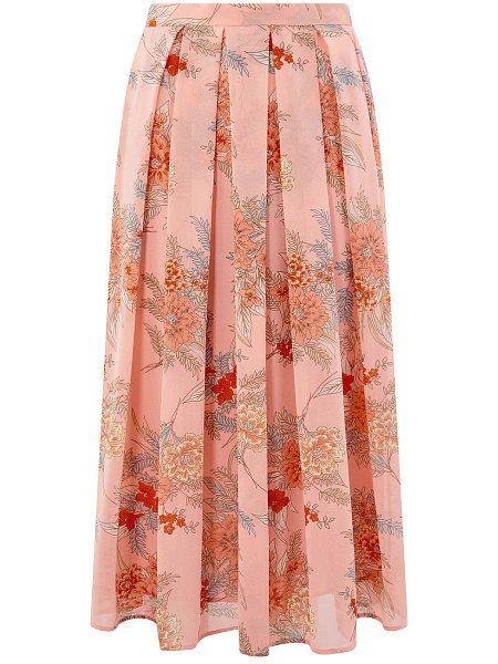 67b816ee248 Длинная юбка с широким поясом из легкой ткани в крупную складку. Модель на  подкладке
