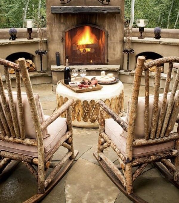 That Drum Table Fireplace In 2020 Drum Table Rocking Chair Chair