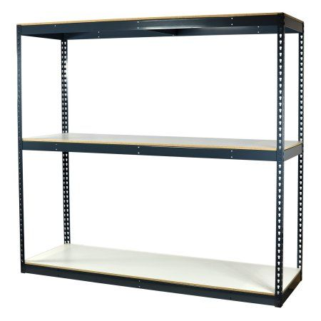 Storage Max Garage Shelving Boltless, 72 x 30 x 72, Heavy Duty, Double Rivet Z-Beams, 3 Shelves, White