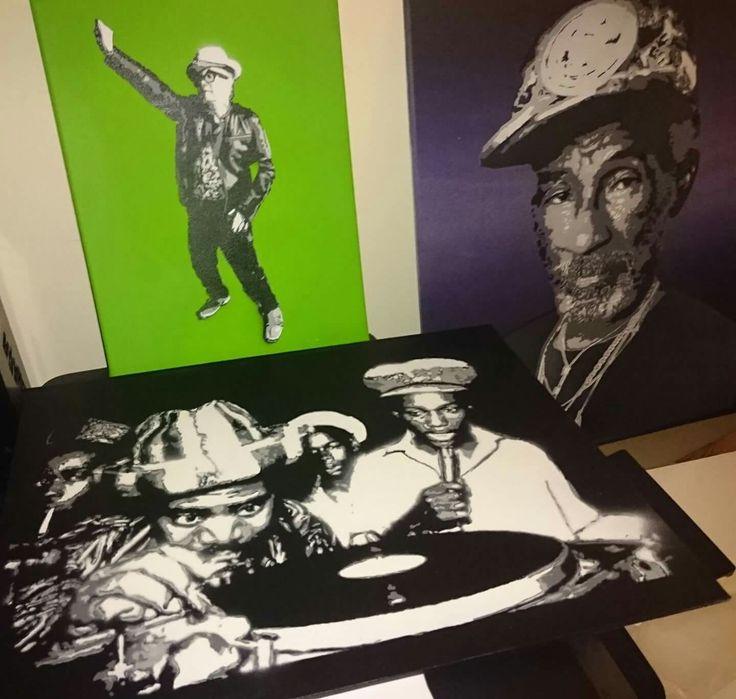 REGGAE, Rasta, Music, Dub Dancehall, Coxone, David Rodigan, Roots, Lee Scratch Perry, Spray Paint, Stencil, Art
