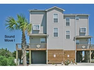 Topsail Island rental: Sound Move I - Oceanview/Soundview 4 bedroomsduplex in North Topsail Beach,