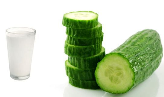 Cucumber and milk soothes itchy shave rash on neck, face and legs