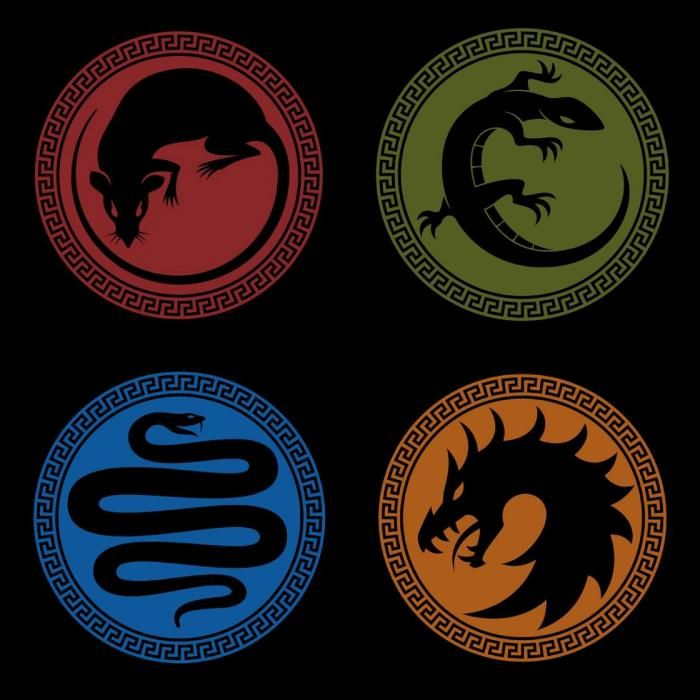 The logos from the hordes of combat present in Enders Game