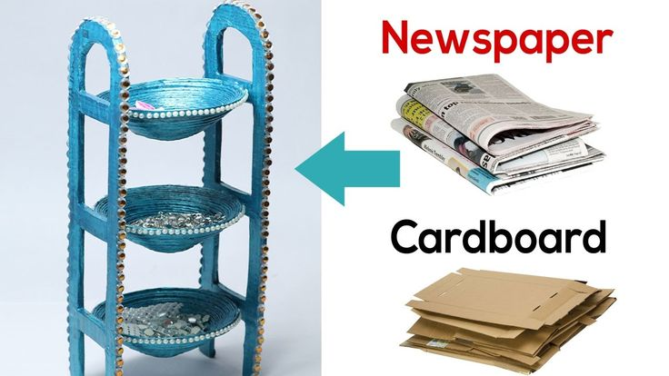 How to Make Desk Organizer with Newspaper & Cardboard | Waste Material C...