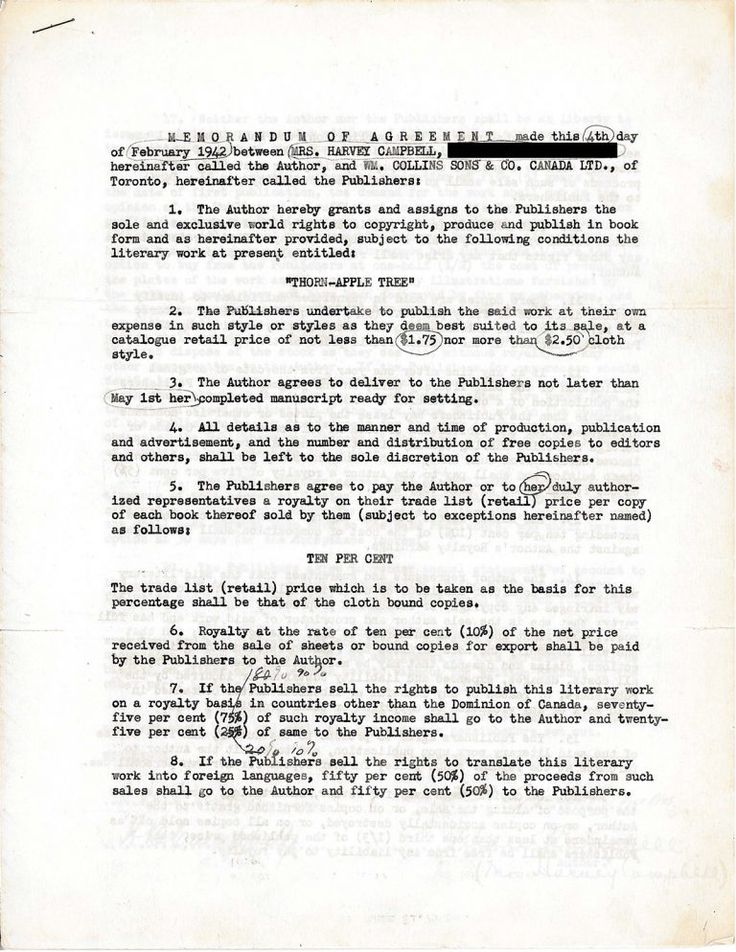 173 best Old Publishing Contracts images on Pinterest - production contract agreement