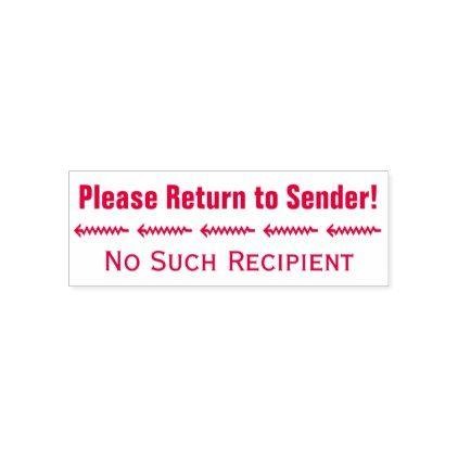 Please Return To Sender No Such Recipient Self Inking Stamp