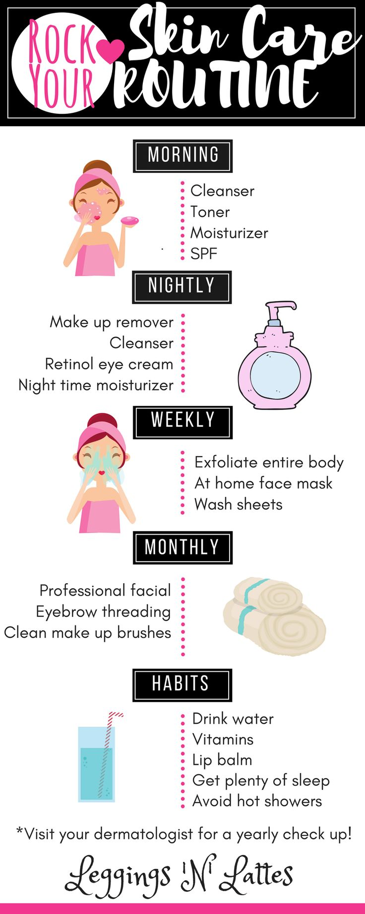 Rock Your Skin Care Routine, skin care, beauty