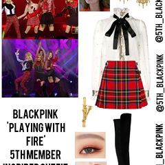 Blackpink Playing With Fire Sbs Inkigayo 5th Member