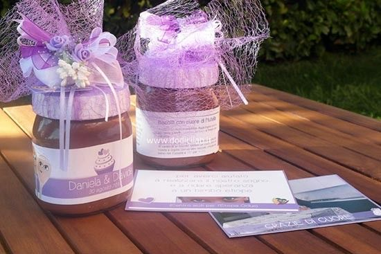 Bomboniere alimentari enogastronomiche Nutella. Wedding favours. #wedding