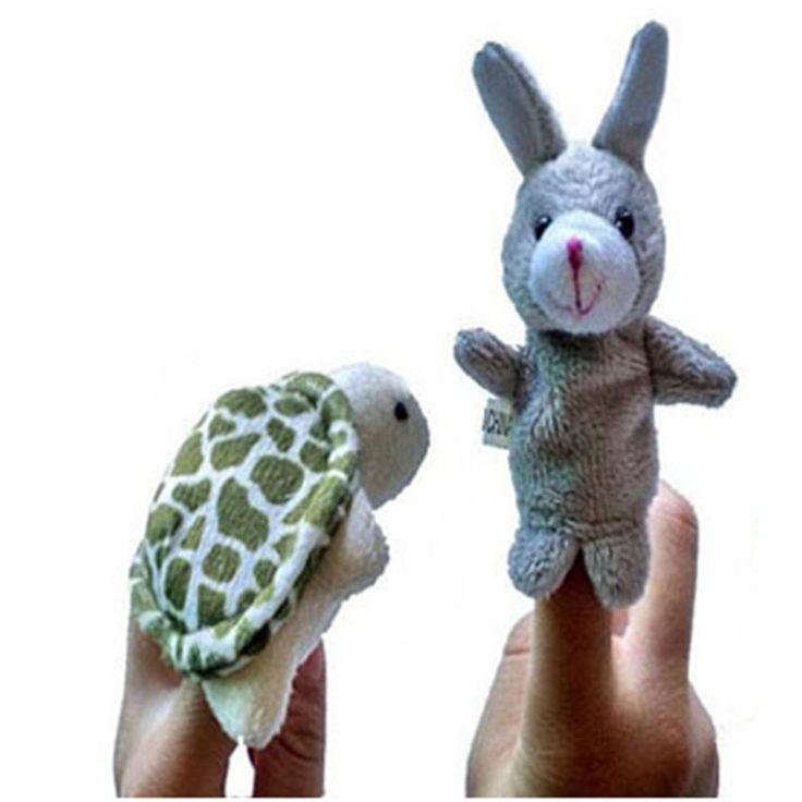 2 шт. Палец Куклы-Марионетки Плюшевые Игрушки Для Детей Черепаха Животное Кролик Палец Перчатки куклы младенца возрождается куклы Образование WOct1 #women, #men, #hats, #watches, #belts