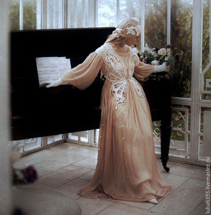 Купить Ар-нуво - винтаж, винтажный стиль, винтажное платье, ретро платье, свадебное платье