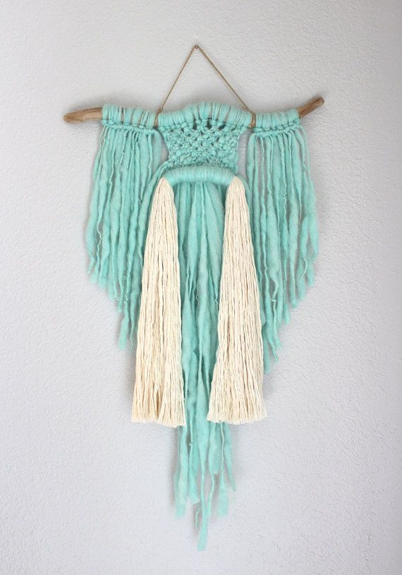 Macrame Wall Hanging Spirited Away no.22 by HIMO ART por HIMOART