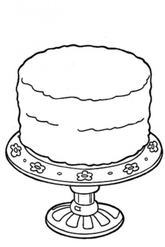 Birthday Cake Coloring Pages Picture 4 | Letter C | Coloring pages ...