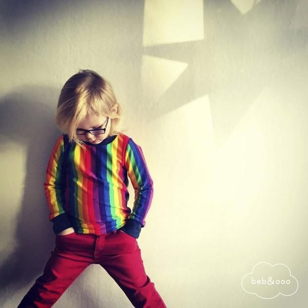 Rainbow Striped Shirt by Beb & Ooo Available at Modern Rascals