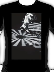 Feet of girl dancing in nightclub lights black and white silver gelatin 35mm film analog photograph T-Shirt