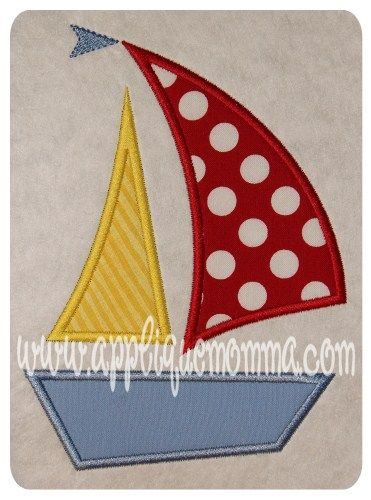 Sailboat 2 Applique Design - applique momma