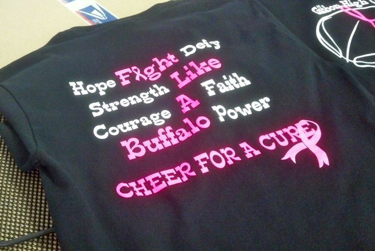 Gibbon High Cheerleading Basketball Breast Cancer Awareness Front Apparel T Shirt