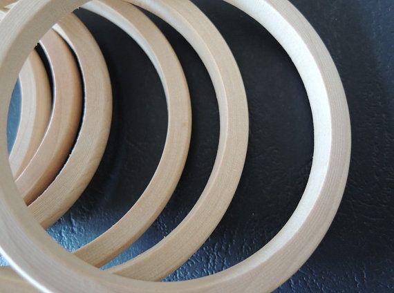 8ST onvoltooide natuurlijke hout Bangle hout ring door TownletBead