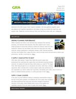 Supply Chain Insights from GRA