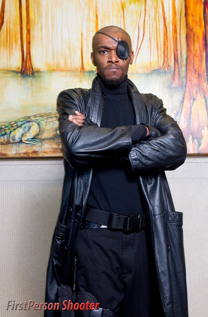 Nick Fury, Agent of Shield, photo by FirstPersonShooter. View more EPIC cosplay at http://pinterest.com/SuburbanFandom/cosplay/...